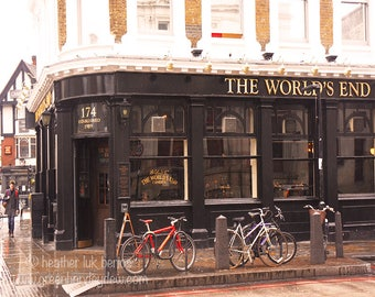 London - English Pub Photography - Wall Decor - Fine Art Photography Print - The World's End Local Bar