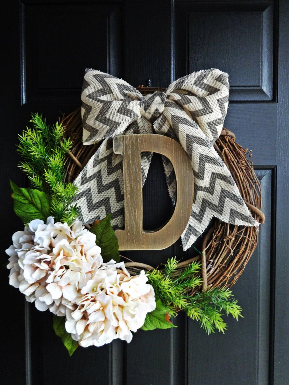 rustic year round wreath farmhouse wreath barnwood letter
