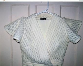 Retro pant suit -70s pant suit - size 11 - off white pant suit - plaza pants suit - women's pant set - 70s fashion - Zazie designs pant set