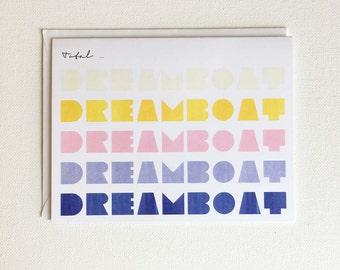 Anniversary Card For Man, Love Greeting Card, Anniversary Card For Boyfriend, For Husband, For Him, Sweet, Retro Rainbow, Total Dreamboat