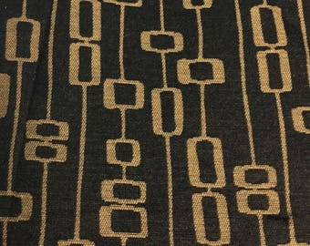 """Upholstery fabric- 3 yards 58"""" wide- foulard black and brown"""
