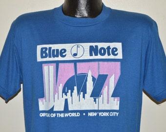 80s Blue Note Jazz New York City Skyline t-shirt Large