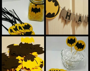 Batman shower - batman birthday - batman favors - batman decorations - batman party pack - batman party