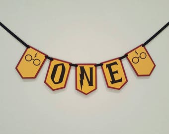 Harry potter highchair banner - Harry potter banner - Harry potter party - Harry potter decorations - Harry potter garland - one banner