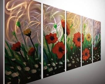"80""abstract metal art. home office wall art, home decor. metal wall art metal sculpture wall art oil painting flower on aluminum"