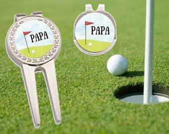 Golf Ball Marker, Golf Marker, Golf Divot Tool, Divot Tool, Ball Marker, Personalized Golf Ball Marker, Father's Day Gift, Groomsmen Gift