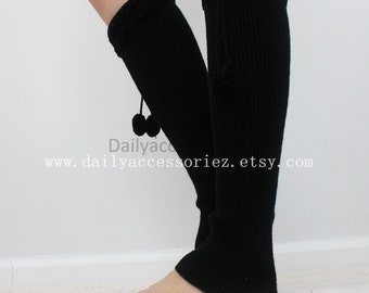 black womens leg warmers, knit leg warmers, leg warmers adult, boot socks, for girls, for women, Christmas Gifts, for her, for mom, for you