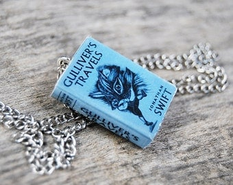 Gulliver's Travels book necklace