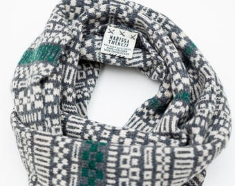 Snood - Micro Collection - Lambswool Merino - Grey / Green