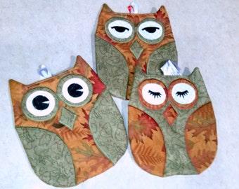 Owl Pot Holders (Hot Pads)