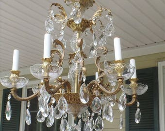 Gorgeous Large Crystal Chandelier - Made in Czechoslovakia