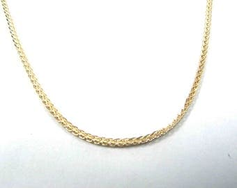 14k gold chain, gold necklace, yellow gold necklace, spiga chain. men gold chain. women gold chain. thick gold chain. white gold chain