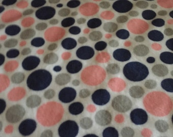 lovey blanket in a navy and white print.