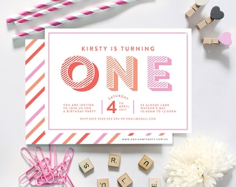 1st Birthday (Any Age) Personalised Invitations