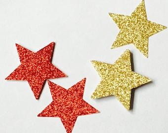 "Glittering Star cutouts - 2"" - 100 pieces"