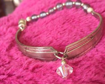 Vintage silver-plate spoon bracelet   Free shipping - within Australia