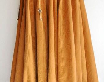 Long Skirt bohemian burlesque Orange