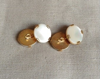 1950's mother of pearl cuff links.