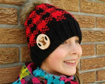 Jack, Lumberjack hat pattern, knitting pattern, hat pattern
