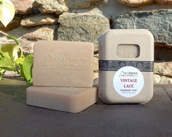 Vintage Lace Handmade Soap - Cold Process Soap -