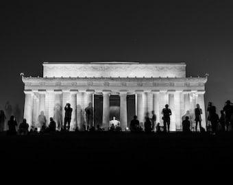 Lincoln Memorial - Washington DC // Black and White Fine Art Photography // Giclée Print