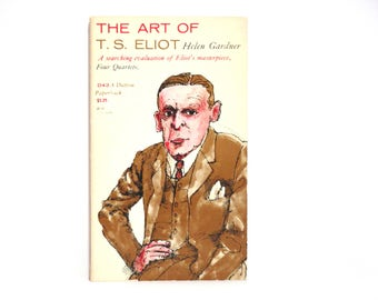 Jim McMullan Cover Design ~ The Art of T. S. Eliot by Helen Gardner 1950 Vintage Book