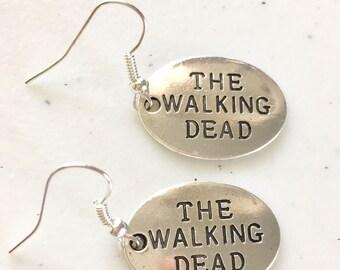 """Tibetan silver """"the walking dead"""" earrings. Nickel free ear wires."""