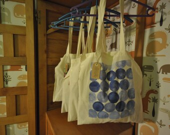 Hand-painted linen bags