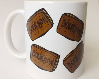 BOURBONS! The king of the biscuits. Biscuits - Mug - Parenting - Cup - Ceramic Mug - Tea