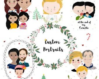 Custom portrait ( FAMILY)