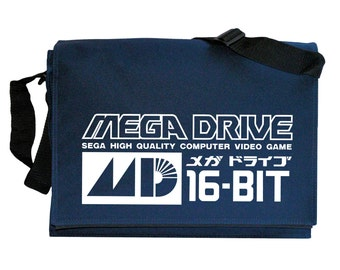 Mega Drive Tribute Navy Blue Messenger Shoulder Bag