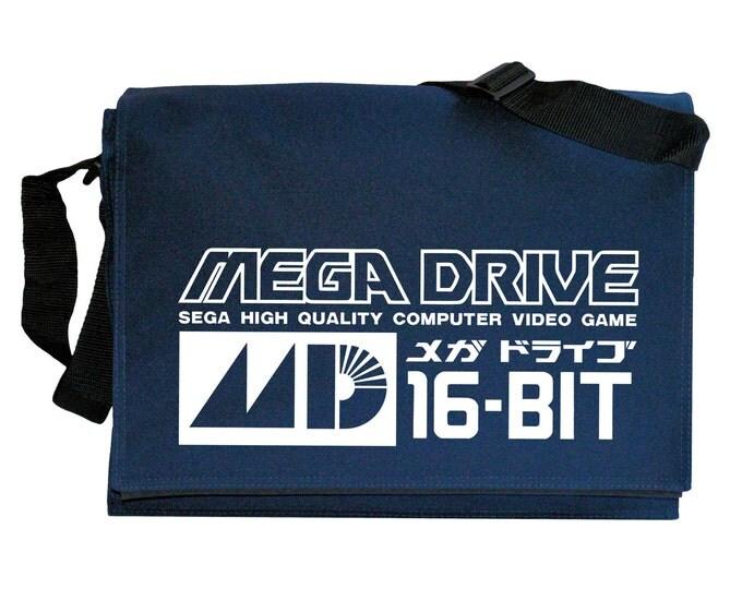 Mega Drive Tribute Navy Blue Messenger Shoulder Bag