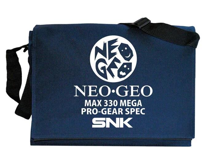Neo Geo AES Pro Gear inspired Navy Blue Messenger Shoulder Bag