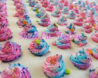 Rainbow Unicorn Poop, Rainbow French Meringues, Unicorn Poop, Unicorn Party, Unicorns, French Meringues - 1 dz Treat Bags 6 meringues each