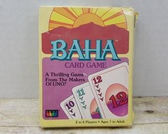 Baha Card Game, 1989, vintage card game