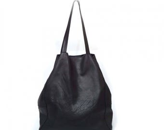Soft blak leather bag - Sale!!!