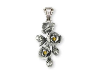 Magnolia Pendant Jewelry Sterling Silver Handmade Flower Pendant MGS1-SP