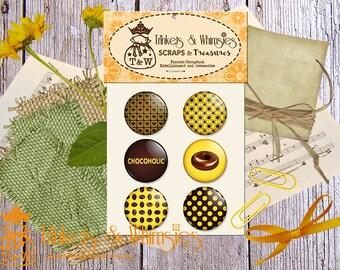 Chocoholic 1 inch Flair Button (6 pcs)