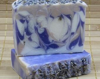Lavender & Vanilla Scented Shea Butter Soap - Handmade Soap - All Natural Shea Butter Soap