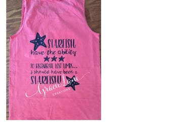 Amputee Starfish Comfort Color Tank