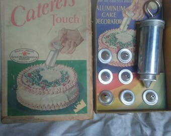 Vintage Caterers Touch Aluminum Cake Decorator In Box
