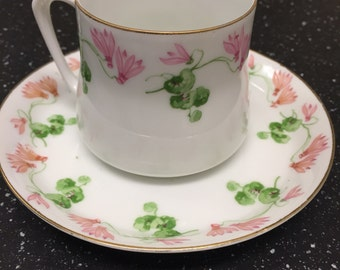 Hand Painted Prinzess Tea Cup Set