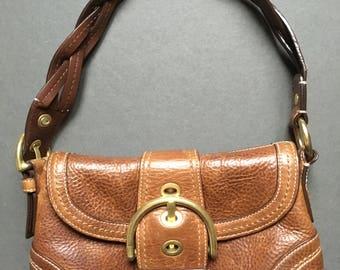 Vintage COACH Genuine Leather Brown Shoulder Bag