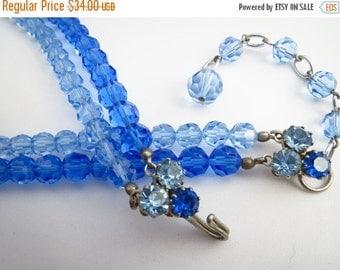 SALE Vintage Austria Crystal Glass Necklace