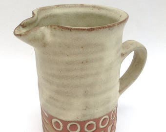 Tremar Studio Pottery of Cornwall Milk Jug or Creamer, Mid Century Modern, Timeless Style, Collectable