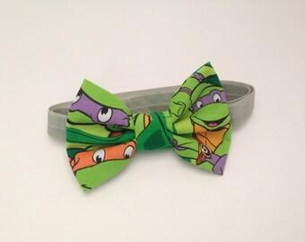 Teenage Mutant Ninja Turtle Handmade Fabric Bow Tie
