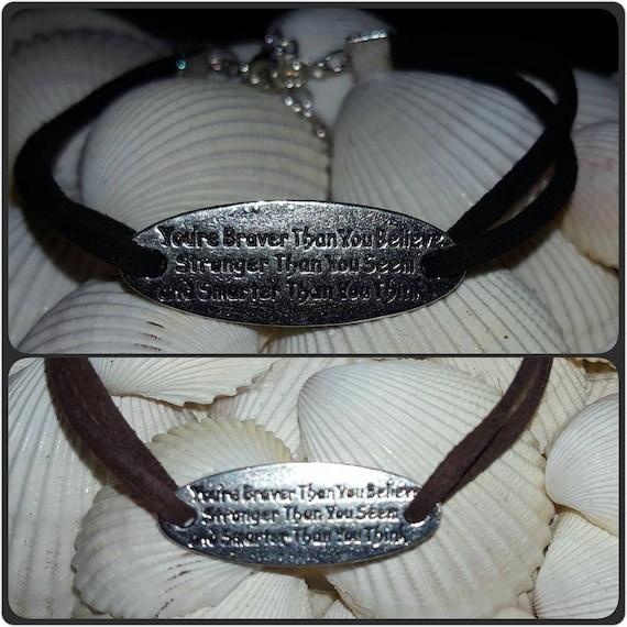 Brave, Strong and Smart Bracelet