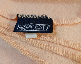 "Peach, Wool Lands' End 86"" x 88"" Blanket"