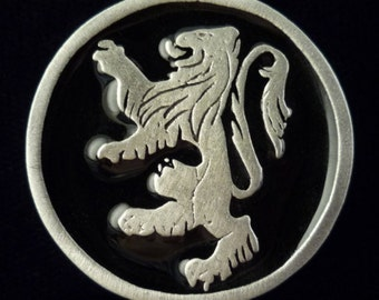 TC116.0617 - Rampant Lion Pin in Pewter (Choice of Colors)
