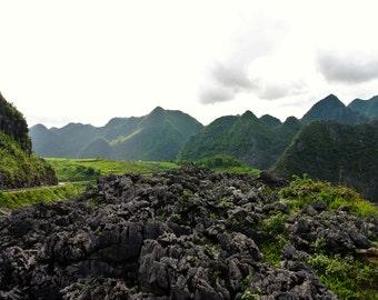 Mountainous Northern Vietnam photo - digital download